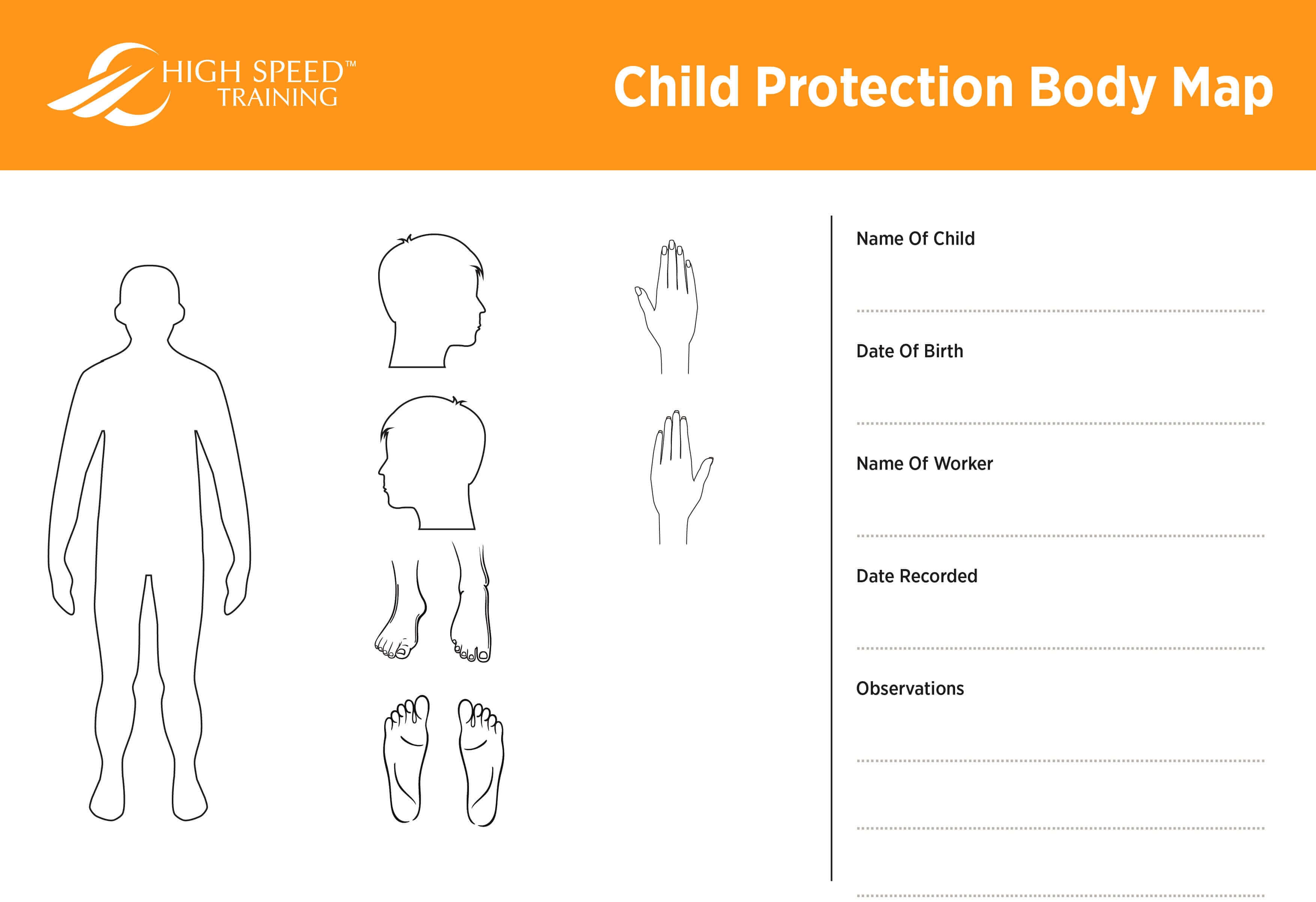 Child Protection Body Map Template | Safeguarding Advice Regarding Blank Body Map Template