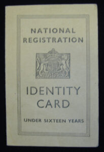 Child's Identity Card: Nen Gallery for World War 2 Identity Card Template