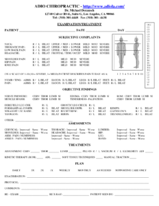 Chiropractic Soap Notes | Dc Documentation | Soap Note inside Chiropractic X Ray Report Template