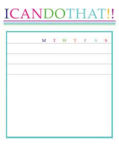 Chore Chart / Behavior Chart / Reward Program » One with regard to Blank Reward Chart Template