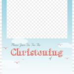 Christening Png Free – Baptism Invitation Template Png With Blank Christening Invitation Templates