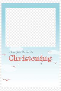 Christening Png Free – Baptism Invitation Template Png with Blank Christening Invitation Templates
