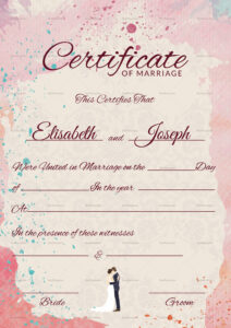 Christian Marriage Certificate Template with regard to Certificate Of Marriage Template