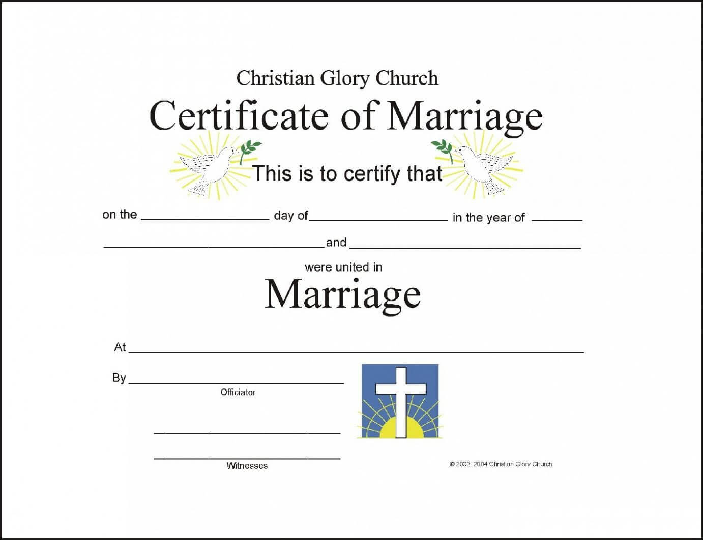 Christian Wedding Certificate Sample - Google Search Within Christian Certificate Template