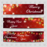 Christmas And New Year Banners Template Stock Vector Image Regarding Merry Christmas Banner Template