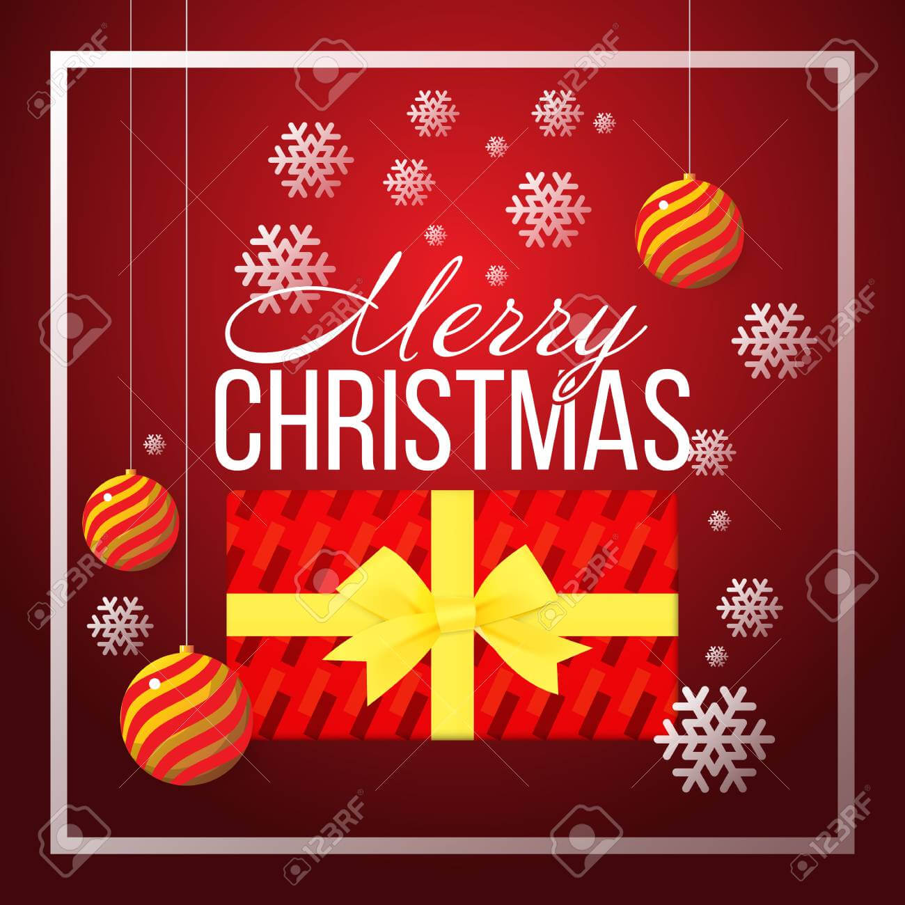 Christmas Banner Template Background With Merry Christmas Greeting.. In Merry Christmas Banner Template