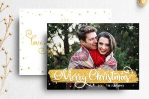 Christmas Card Template For Photographer | 007 with Holiday Card Templates For Photographers
