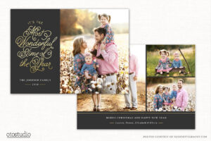 Christmas Card Template For Photographers Cc243 intended for Holiday Card Templates For Photographers