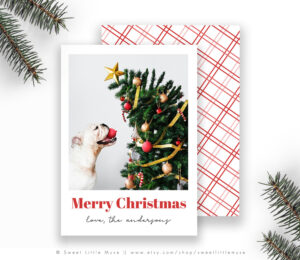 Christmas Card Template For Photographers – Christmas Cards – Holiday Card  Template – Modern Christmas Card in Holiday Card Templates For Photographers