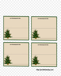 Christmas Card Template Png Download – 1275*1575 – Free With Table Place Card Template Free Download