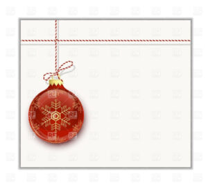 Christmas Card Template – Red Christmas Bauble With Snowflake Stock Vector  Image intended for Happy Holidays Card Template