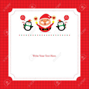 Christmas Card Template Santa Claus in Happy Holidays Card Template