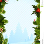 Christmas Card Template Stock Vector. Illustration Of Shape Intended For Blank Christmas Card Templates Free