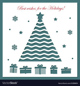 Christmas Card Template With Laser Cutting intended for Adobe Illustrator Christmas Card Template