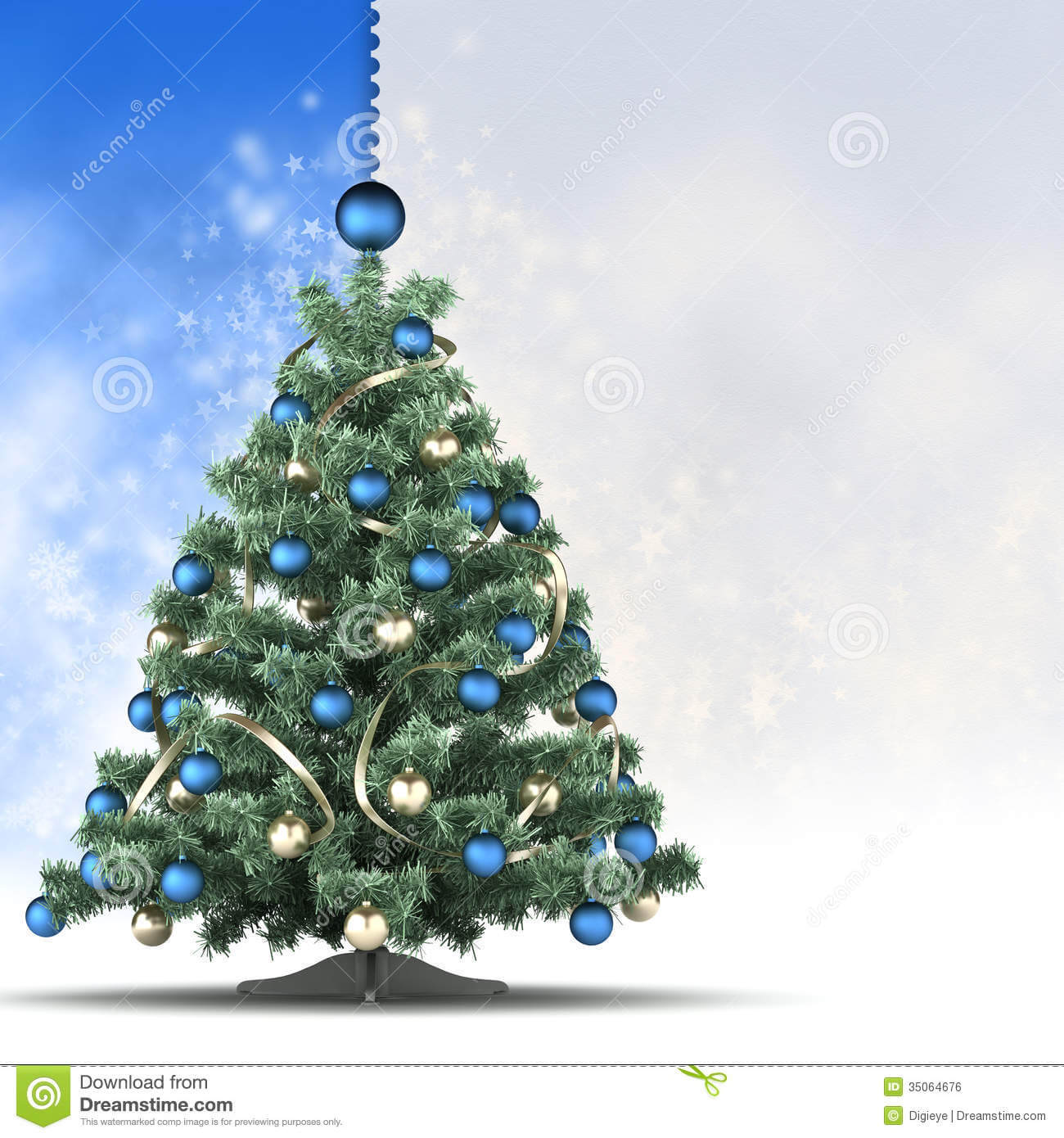Christmas Card Template - Xmas Tree And Blank Space For Text With Regard To Blank Christmas Card Templates Free