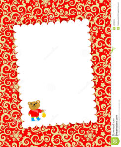 Christmas Card With Blank Letter Stock Vector – Illustration with Blank Christmas Card Templates Free