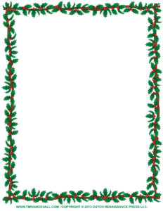 Christmas Clip Art Borders For Word Documents | Clipart within Christmas Border Word Template