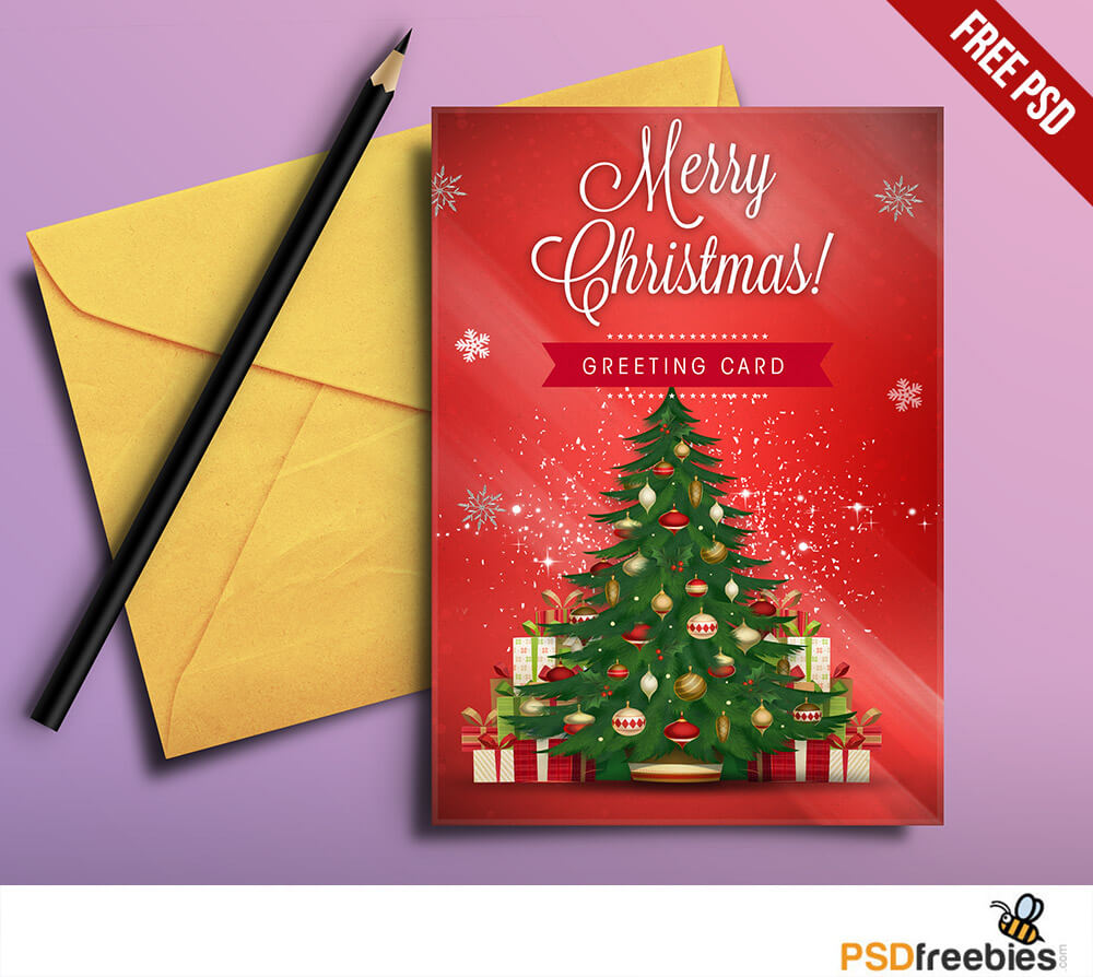 Christmas Greeting Card Free Psd | Psdfreebies With Free Christmas Card Templates For Photoshop