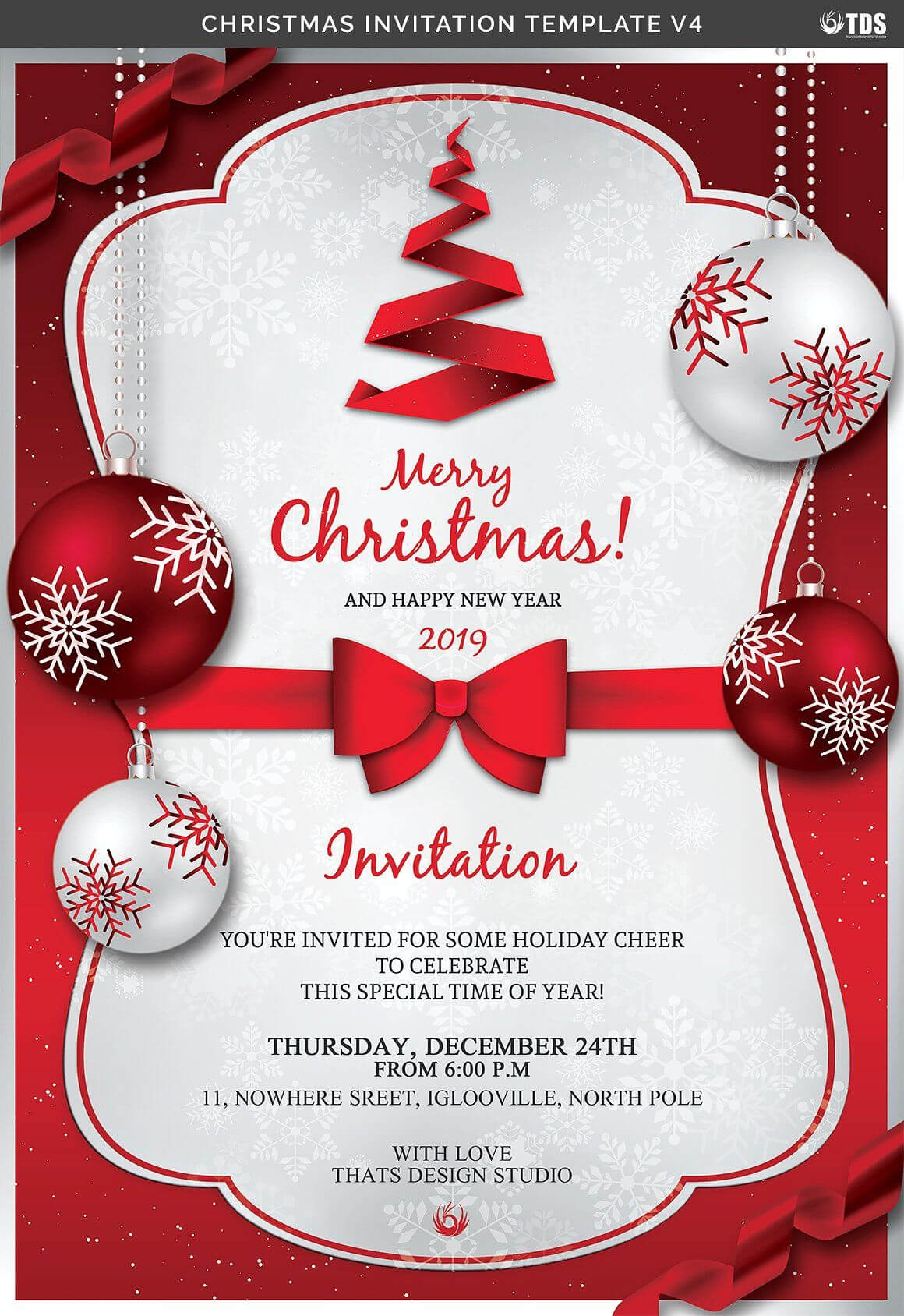 Christmas Invitation Template V4Thats Design Store On Inside Free Christmas Invitation Templates For Word
