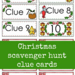 Christmas Scavenger Hunt Free Printable Clue Cards For Kids Intended For Clue Card Template