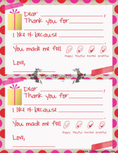 Christmas Thank You Note Template For Kids | Five Marigolds regarding Christmas Thank You Card Templates Free