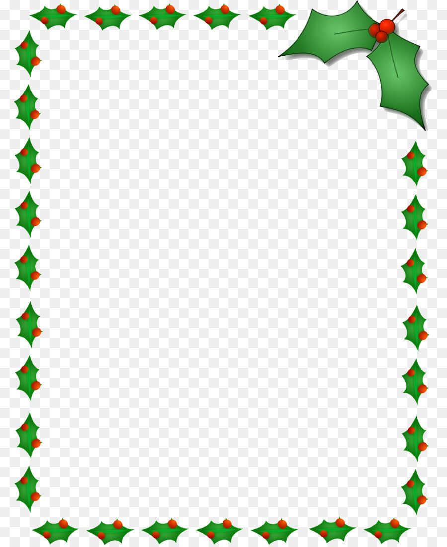 Christmas Word Template Png Download - 850*1100 - Free In Christmas Border Word Template