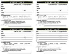 Church Bulletin Templates | Creating Our Church From Scratch intended for Church Visitor Card Template