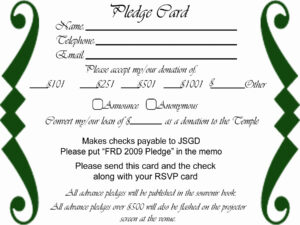 Church Pledge Card Template | Template Modern Design In Building Fund Pledge Card Template