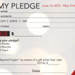 Church Pledge Form Template Hausn3Uc   Capital Campaign Inside Fundraising Pledge Card Template