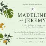 Church Wedding Invitation In Landscape And Portrait In Church Wedding Invitation Card Template