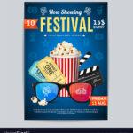 Cinema Movie Festival Poster Card Template With Regard To Film Festival Brochure Template