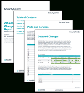 Cip-010 R1 Configuration Change Management Report – Sc inside Reliability Report Template