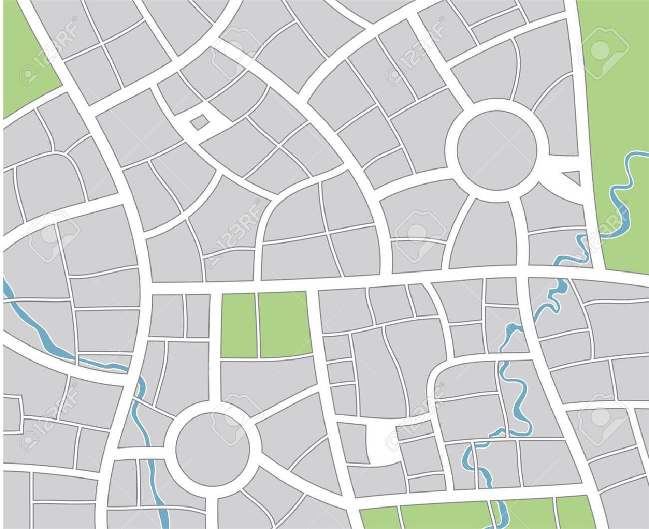 City Map Regarding Blank City Map Template