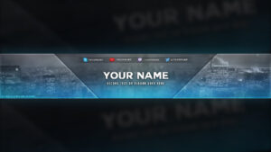 City Themed Youtube Banner Template – Free Download [Psd] in Youtube Banners Template