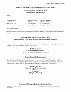 Claim Denial Letter Template Examples | Letter Template for Ppi Claim Letter Template For Credit Card