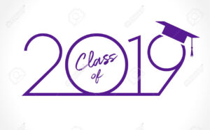 Class Of 20 19 Year Graduation Banner, Awards Concept. T-Shirt.. pertaining to Graduation Banner Template