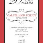 Class Reunion Invitations | Sunshinebizsolutions For Reunion Invitation Card Templates