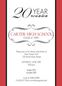 Class Reunion Invitations | Sunshinebizsolutions for Reunion Invitation Card Templates