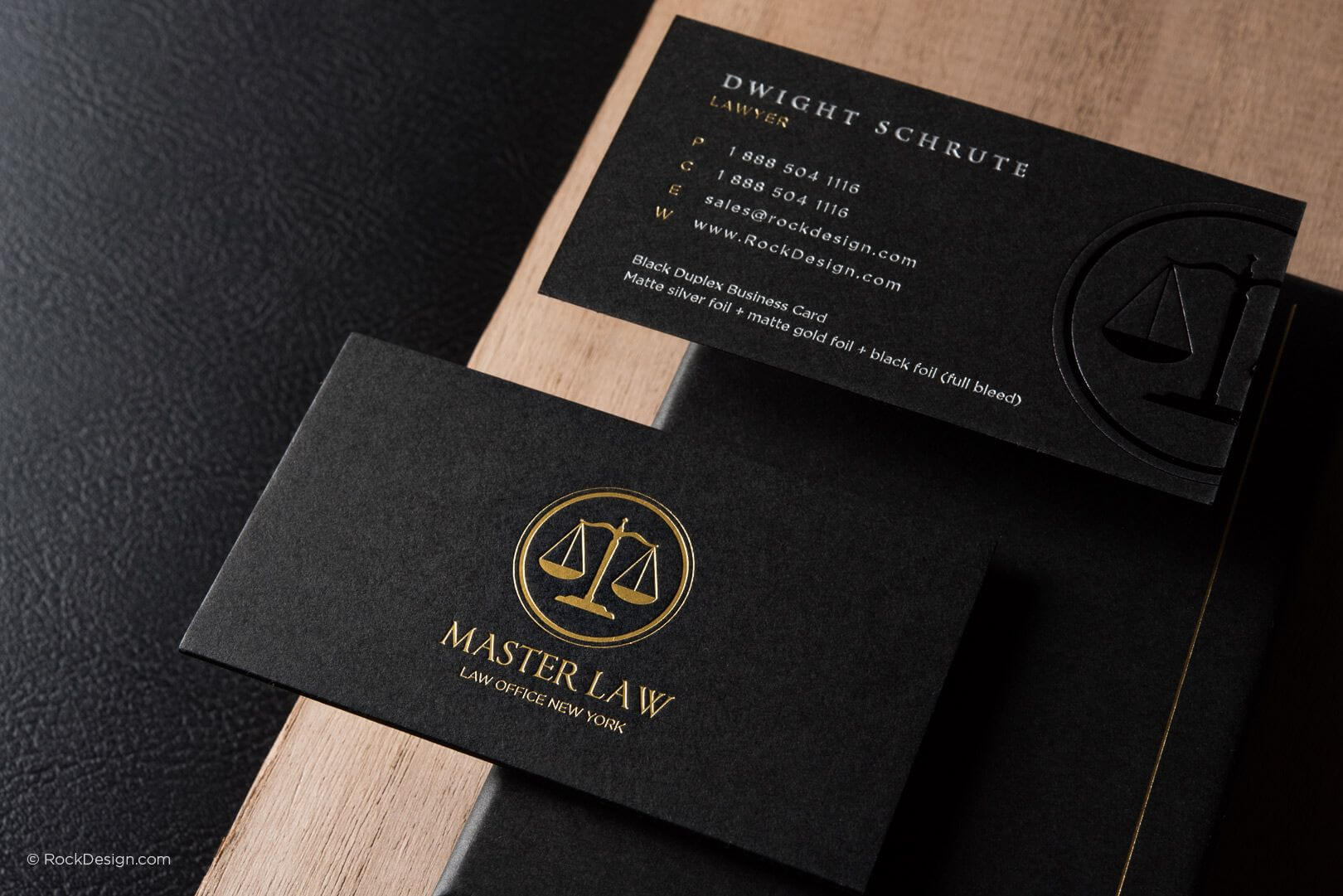 Classic Modern Black Duplex Attorney Business Card Template Within Lawyer Business Cards Templates
