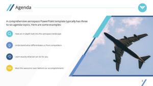 Clean Airplane Premium Powerpoint Template – Slidestore regarding Air Force Powerpoint Template