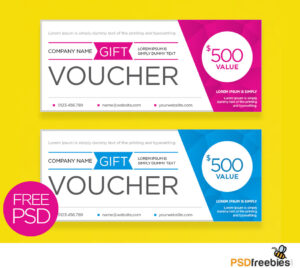 Clean And Modern Gift Voucher Template Psd | Psdfreebies With Regard To Gift Certificate Template Photoshop