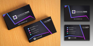 Clean And Simple Business Card Template throughout Company Business Cards Templates