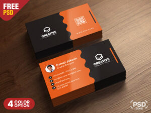 Clean Business Card Psd Templatespsd Zone On Dribbble inside Visiting Card Templates For Photoshop