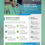 Clean Business Flyer Template Free Psd   Psdfreebies For Cleaning Brochure Templates Free