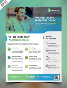 Clean Business Flyer Template Free Psd | Psdfreebies for Cleaning Brochure Templates Free
