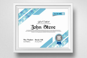 Clean Certificate Template – Vsual throughout Indesign Certificate Template