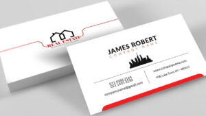 Clean Illustrator Business Card Design With Free Template Download with Visiting Card Templates Download