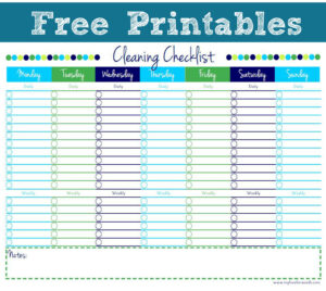 Cleaning Checklist {Free Printable} with Blank Cleaning Schedule Template