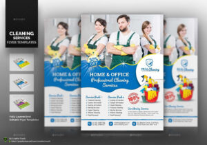Cleaning Service Flyer Bundle #service, #sponsored inside Commercial Cleaning Brochure Templates
