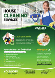 Cleaning Services – Download Free Psd Flyer Template | Free within Cleaning Brochure Templates Free